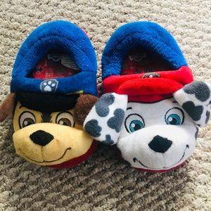 Paw Patrol slippers.